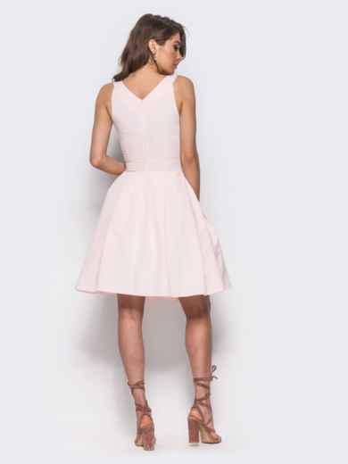 Платье на широких бретелях с подъюбником розовое - 11006, фото 2 – интернет-магазин Dressa