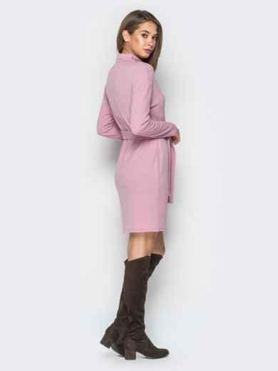 Платье розового цвета со спущенным плечом - 18213, фото 3 – интернет-магазин Dressa