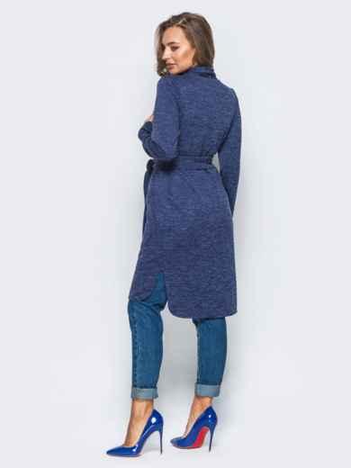 Кардиган синего цвета с удлиненной спинкой 16351, фото 3