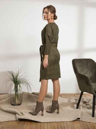 """Платье с рукавом """"летучая мышь"""" цвета хаки - 44230, фото 3 – интернет-магазин Dressa"""