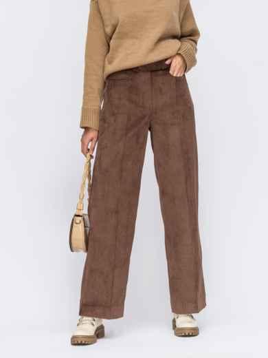 Вельветові штани широкого крою зі стрілками  55243, фото 1
