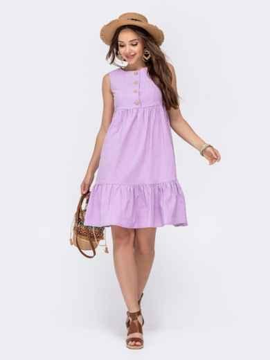 Расклешенное платье с завышенной талией фиолетового цвета 48494, фото 3