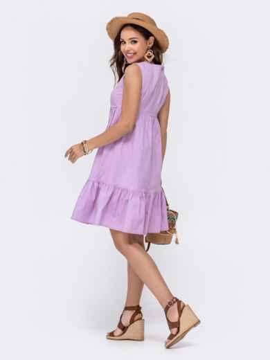 Расклешенное платье с завышенной талией фиолетового цвета 48494, фото 4