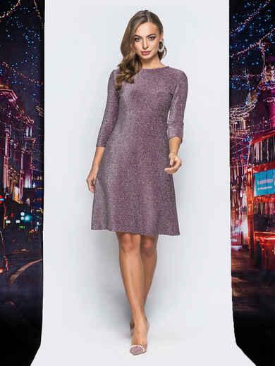 Платье бордового цвета с люрексом - 18023, фото 1 – интернет-магазин Dressa