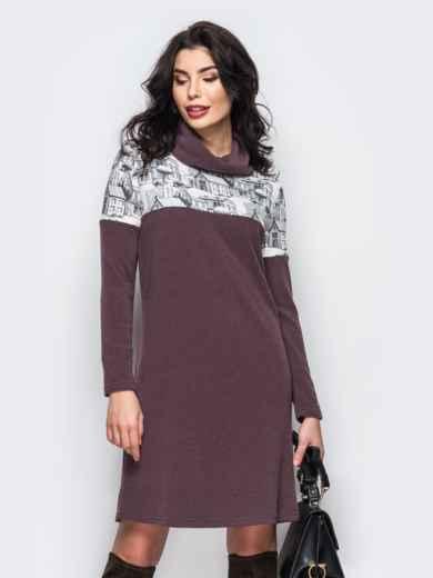 Теплое платье-гольф из ангоры - 22150, фото 2 – интернет-магазин Dressa