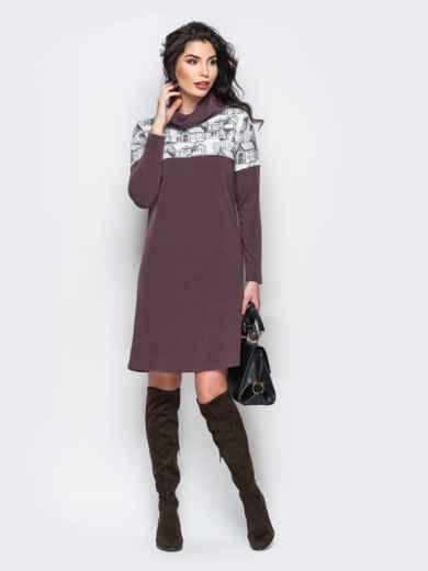 Теплое платье-гольф из ангоры - 22150, фото 3 – интернет-магазин Dressa