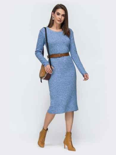 Голубое платье-миди из ангоры 44905, фото 1