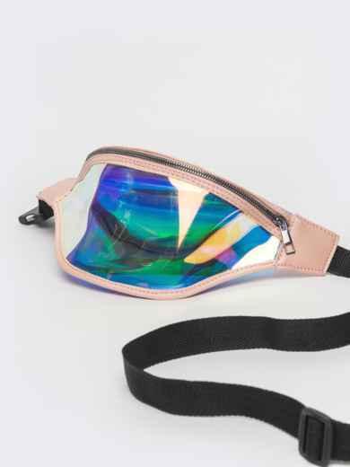 Прозрачная сумка-кошелек на пояс с бежевой окантовкой - 39334, фото 2 – интернет-магазин Dressa