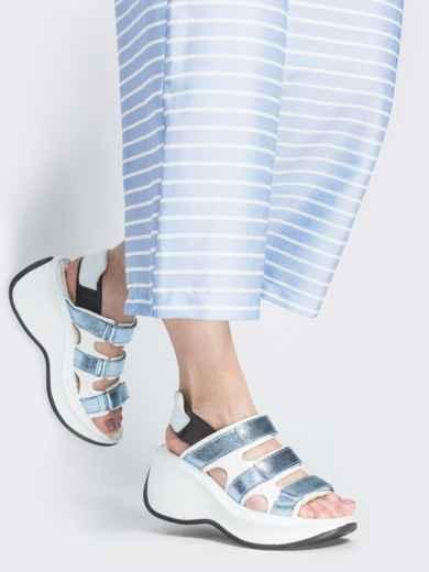 Спортивные босоножки с голубыми вставками - 38986, фото 1 – интернет-магазин Dressa