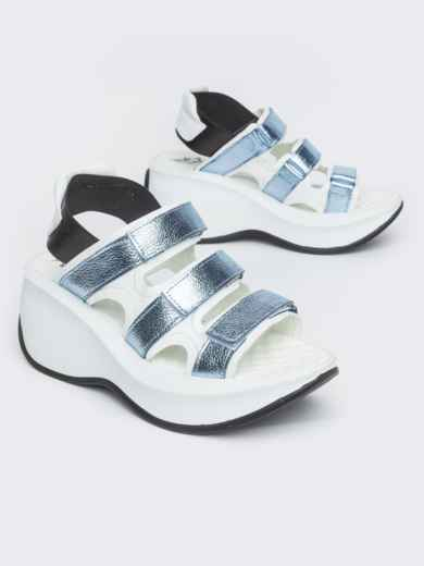 Спортивные босоножки с голубыми вставками - 38986, фото 2 – интернет-магазин Dressa