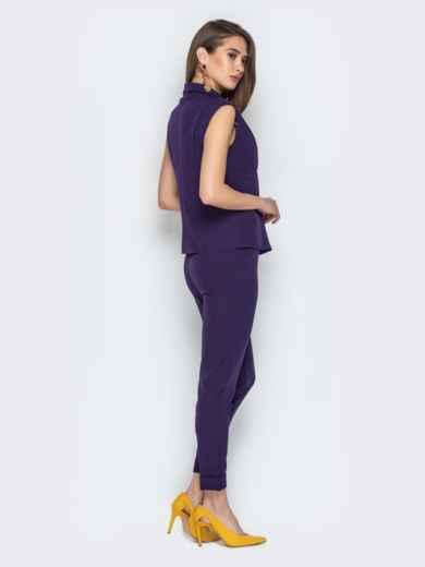 Брючный комплект фиолетового цвета с жакетом - 21106, фото 3 – интернет-магазин Dressa