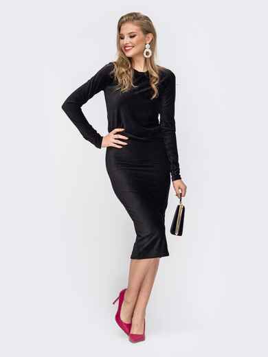 Комплект из кофты и юбки с резинкой по талии чёрный - 42914, фото 1 – интернет-магазин Dressa