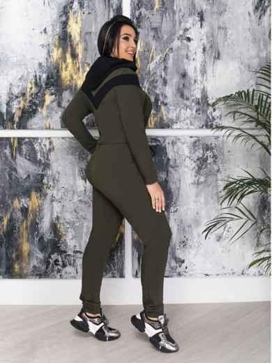 Комбинезон большого размера с брюками хаки - 47370, фото 2 – интернет-магазин Dressa