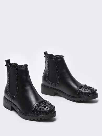Демисезонные ботинки с шипами чёрные 51413, фото 3