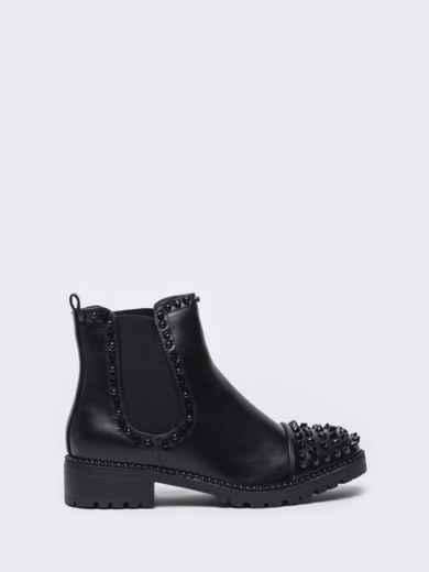 Демисезонные ботинки с шипами чёрные 51413, фото 4
