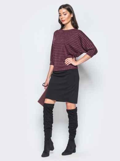 Комплект бордового цвета с кофтой с рукавом доломан - 17300, фото 2 – интернет-магазин Dressa