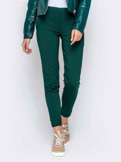 Укороченные брюки-джоггеры зеленого цвета 40557, фото 1