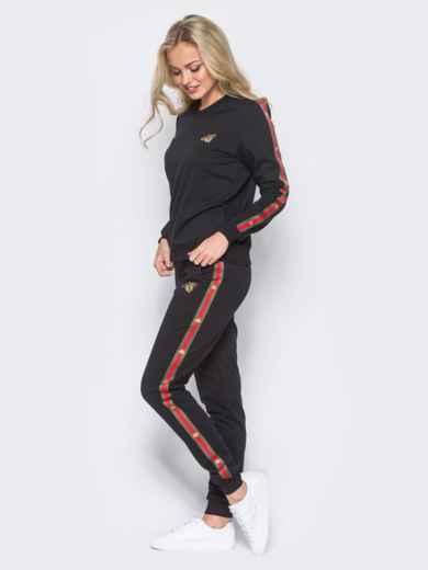Спортивный костюм с лампасами на брюках - 12004, фото 2 – интернет-магазин Dressa