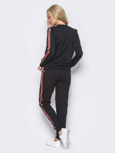 Спортивный костюм с лампасами на брюках - 12004, фото 3 – интернет-магазин Dressa