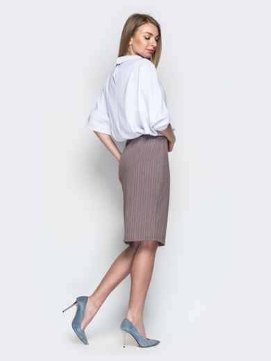 Комбинированное платье с юбкой-карандаш бежевое - 20674, фото 3 – интернет-магазин Dressa