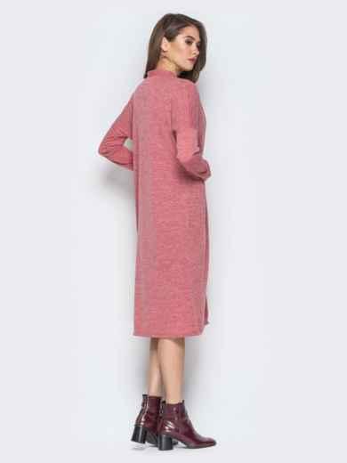 Розовый комплект из платья-футляр и oversize кардигана - 19874, фото 3 – интернет-магазин Dressa