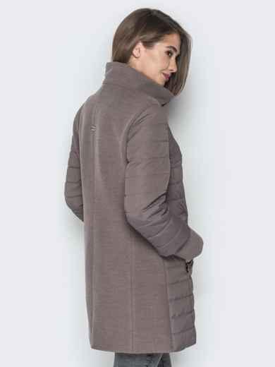 Бежевая куртка с манжетами из кашемира и воротником - 20230, фото 3 – интернет-магазин Dressa