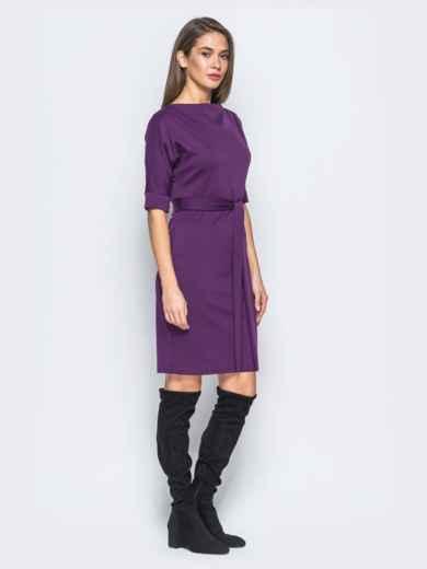 Платье фиолетового цвета с цельнокроеным рукавом 17422, фото 2