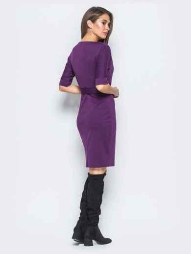 Платье фиолетового цвета с цельнокроеным рукавом 17422, фото 3