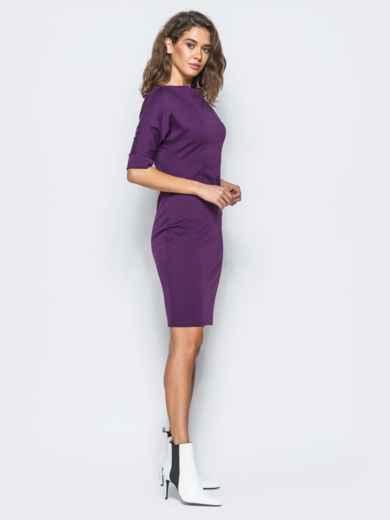 Платье фиолетового цвета с цельнокроеным рукавом 17422, фото 5