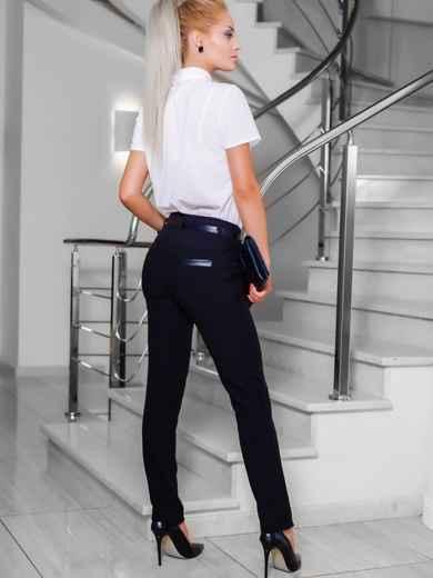 Черные брюки со шлёвками для пояса - 10296, фото 3 – интернет-магазин Dressa