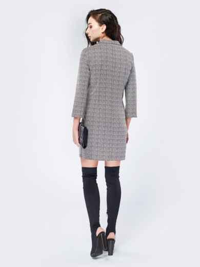Платье-пиджак с зигзагообразным принтом - 17510, фото 3 – интернет-магазин Dressa