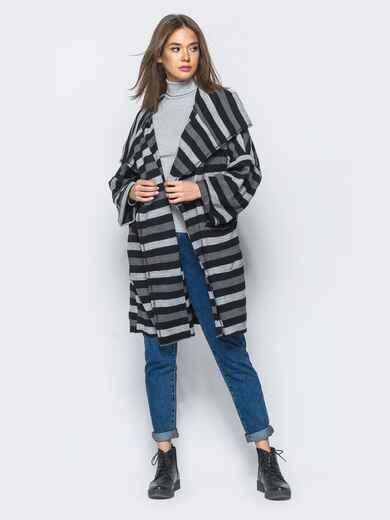 Кардиган в стиле oversize с накладными карманами - 17044, фото 1 – интернет-магазин Dressa