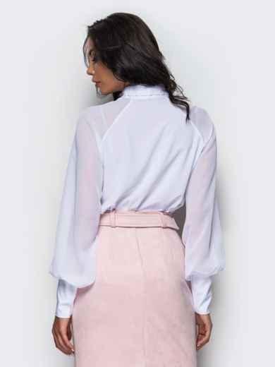 fbece86e9ed Легкая блузка из креп-шелка с воротником аскот 12355 – купить в ...