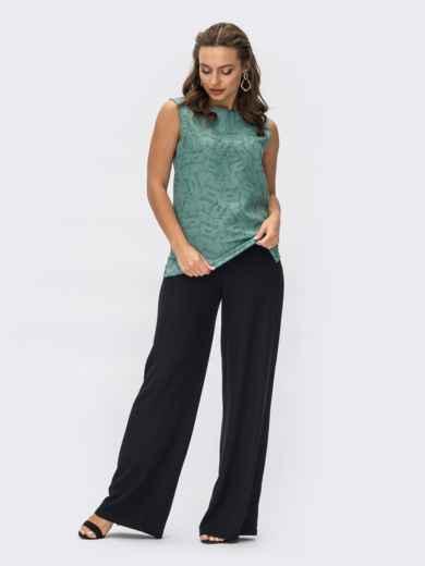 Брючный костюм с блузкой зеленого цвета 54368, фото 1