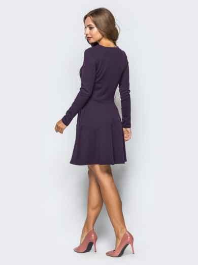 Фиолетовое платье-мини со змейкой спереди - 16279, фото 3 – интернет-магазин Dressa