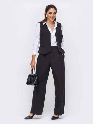 Чёрный комплект из жилета и брюк 51276, фото 1