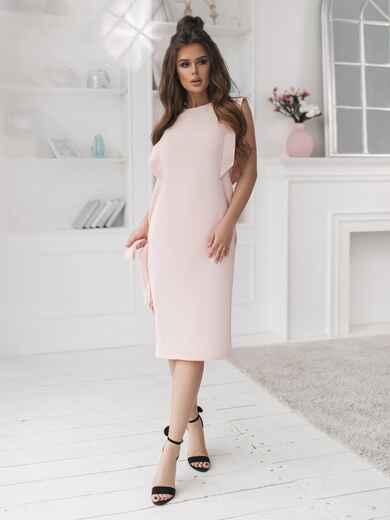 Приталенное платье пудрового цвета 47252, фото 1