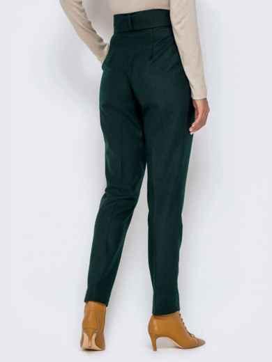 Зеленые брюки-каррот с широким поясом 40978, фото 4