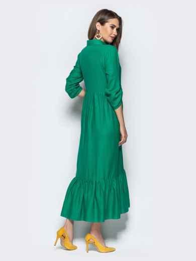 """Платье с вышивкой """"колибри"""" и завышенной талией зеленое 21922, фото 4"""