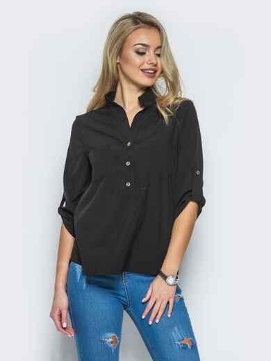 Блузка с рукавом 3/4 и карманами - 13316, фото 1 – интернет-магазин Dressa