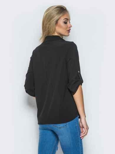 Блузка с рукавом 3/4 и карманами - 13316, фото 3 – интернет-магазин Dressa
