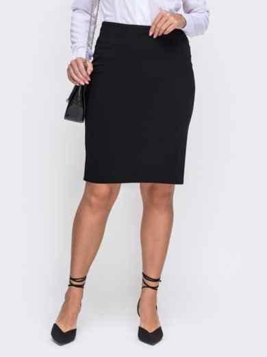 Чёрная юбка-карандаш большого размера 50814, фото 1