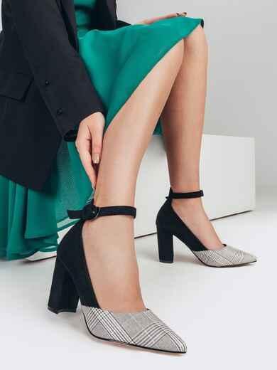 Чёрные туфли с ремешком вокруг щиколотки 51773, фото 1