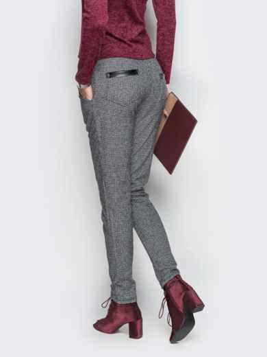 Серые брюки с завязкой на поясе - 10313, фото 3 – интернет-магазин Dressa