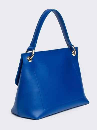 Сумка-келли синего цвета с дополнительным ремешком - 21464, фото 4 – интернет-магазин Dressa