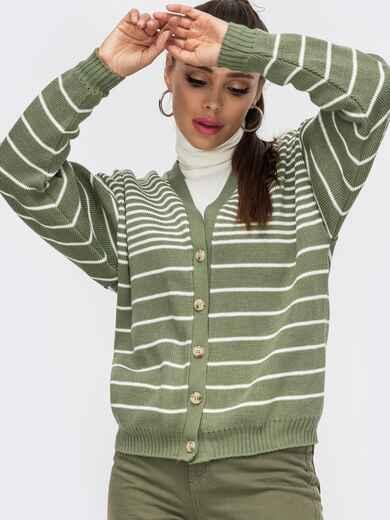 Зеленая кофта со спущенной линией плечевого шва 50196, фото 1