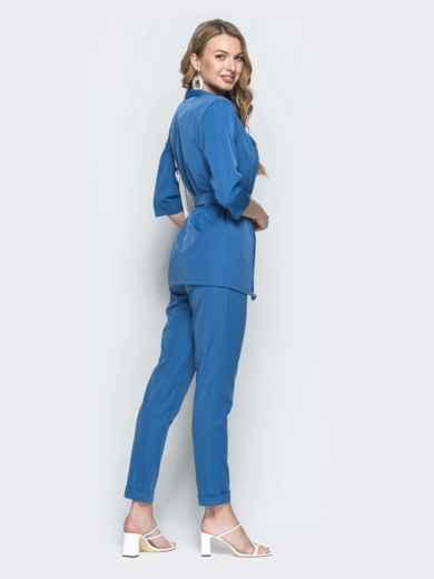 Брючный комплект-тройка с жакетом синий - 39360, фото 2 – интернет-магазин Dressa