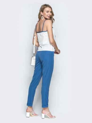 Брючный комплект-тройка с жакетом синий - 39360, фото 4 – интернет-магазин Dressa