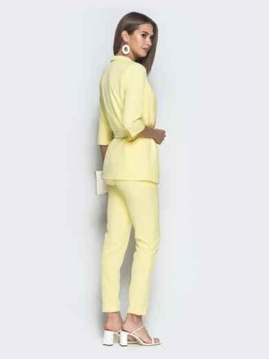 Брючный комплект-тройка с жакетом желтый - 39362, фото 2 – интернет-магазин Dressa