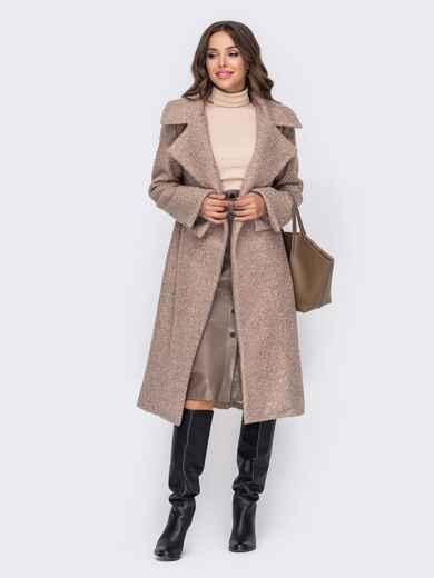Пальто пудрового цвета на запах 50974, фото 1